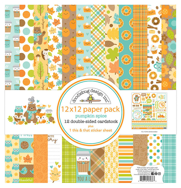 Doodlebug Designs - Pumpkin Spice - 12 x 12 Collection Kit