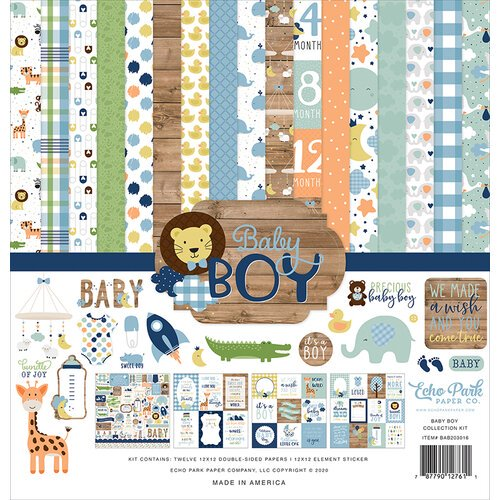 Echo Park - Baby Boy - 12 x 12 Collection Kit