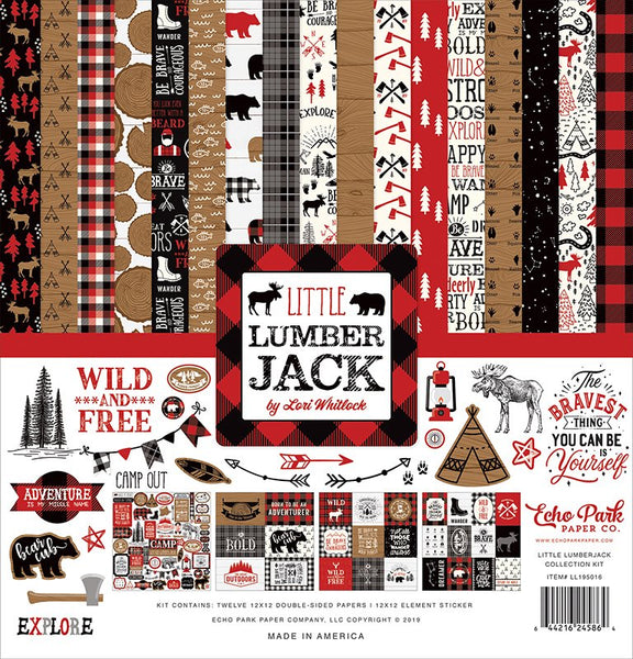 Echo Park - Little Lumberjack - 12 x 12 Collection Kit