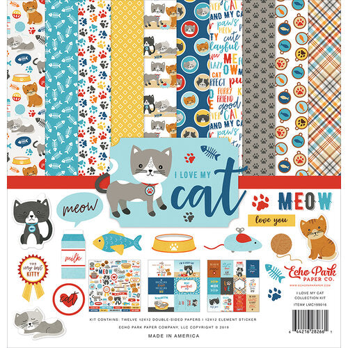 Echo Park - I Love My Cat - 12 x 12 Collection Kit