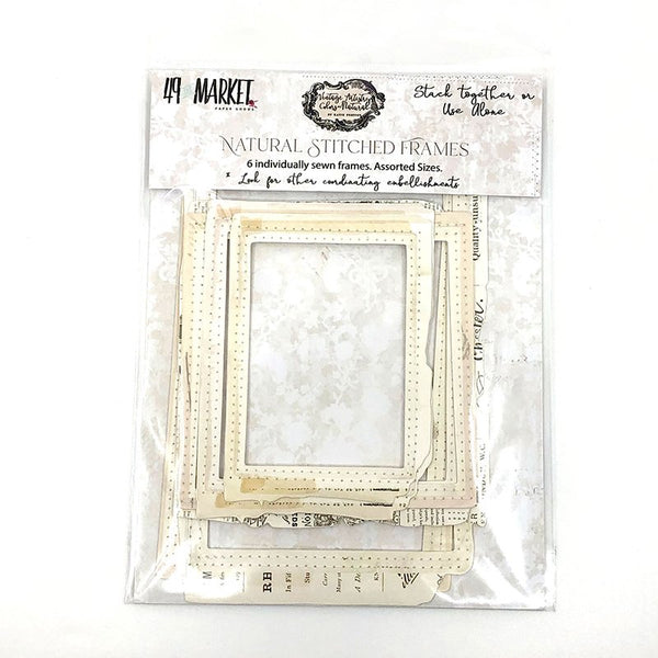 49 and Market - Vintage Artistry - Neutral Stitched Frames Pack