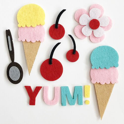 Fancy Pants - A Cherry On Top - Felt Pieces