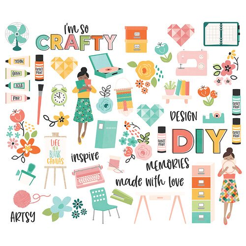 Simple Stories - Hey Crafty Girl - Bits and Pieces
