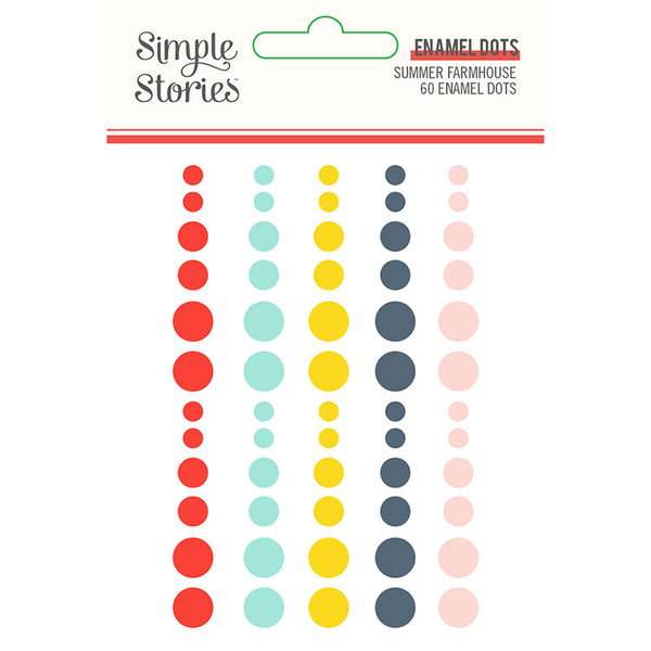 Simple Stories - Summer Farmhouse - Enamel Dots