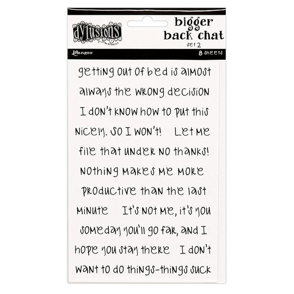 Dylusions - White - Bigger Back Chat Stickers - Set 2