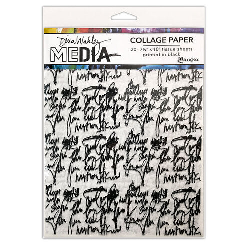 Dina Wakley Media - Collage Paper - Just Words