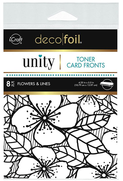Therm O Web - Toner Card Fronts - Flowers & Lines