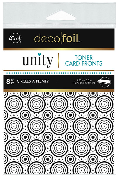 Therm O Web - Unity Stamp Co. - Toner Card Fronts - Circles A Plenty