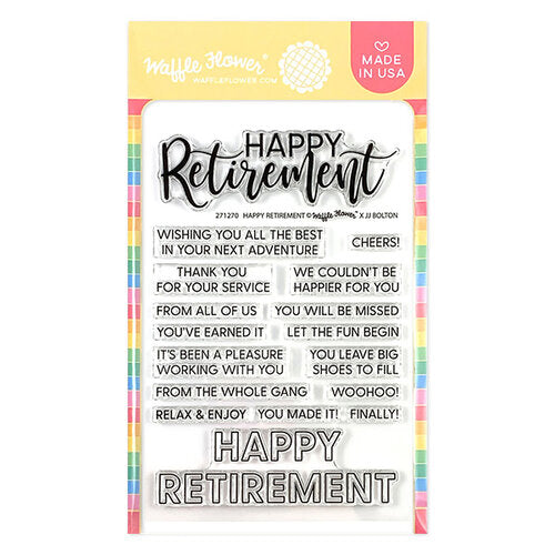 Waffle Flower - Happy Retirement Stamp Set