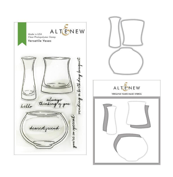 Altenew - Versatile Vases - Stamp, Die, and Mask Stencil Bundle