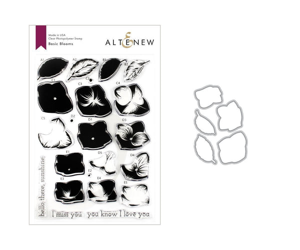 Altenew - Basic Blooms Stamp & Die Bundle