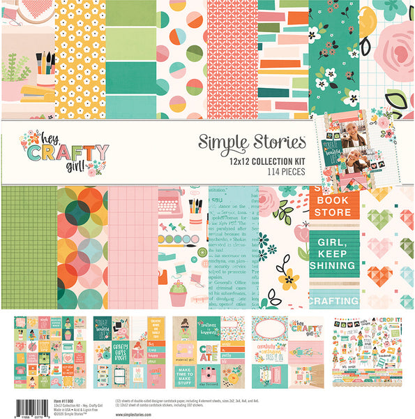 Simple Stories - Hey Crafty Girl - Collection Kit