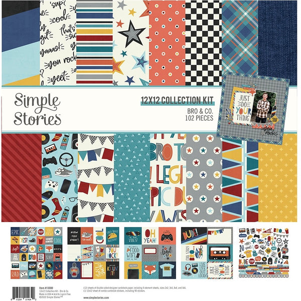 Simple Stories - Bro & Co - 12 x 12 Collection Kit