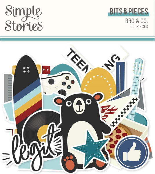 Simple Stories - Bro & Co - Bits & Pieces Pack