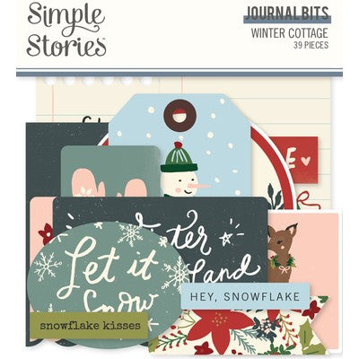 Simple Stories - Winter Cottage - Journal Bits