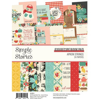 Simple Stories - Apron Strings - 6x8 Recipe Book Pad