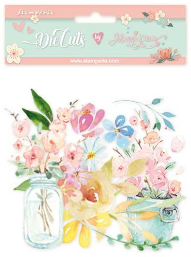Stamperia - Circle of Love - Flowers Die Cuts