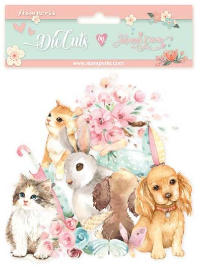 Stamperia - Circle of Love - Cats & Dogs Die Cuts