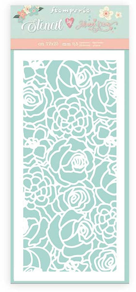 Stamperia - Circle of Love - Texture Roses stencil