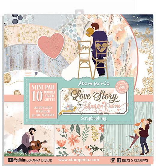Stamperia - Love Story - 8 x 8 Paper pack