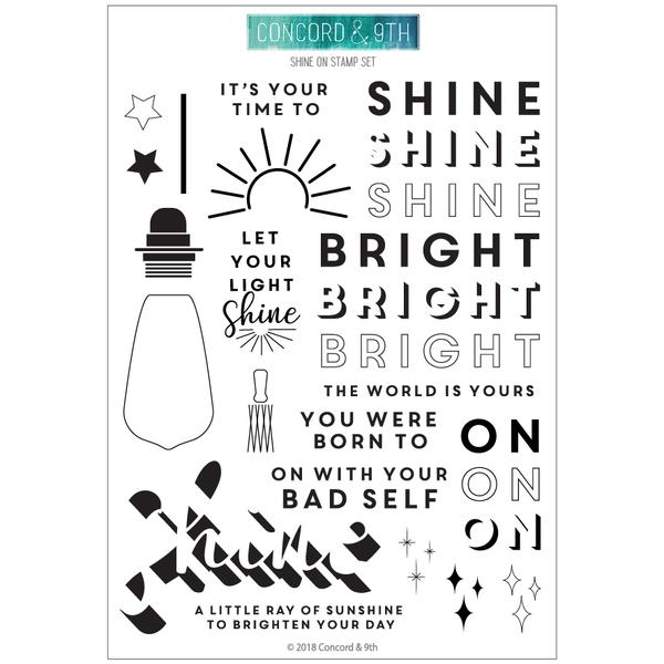 Concord & 9th - Shine On stamp set