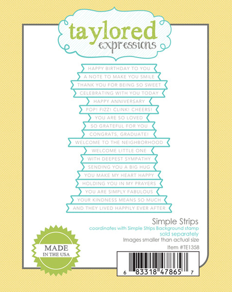 Taylored Expressions - Simple Strips - Die Set