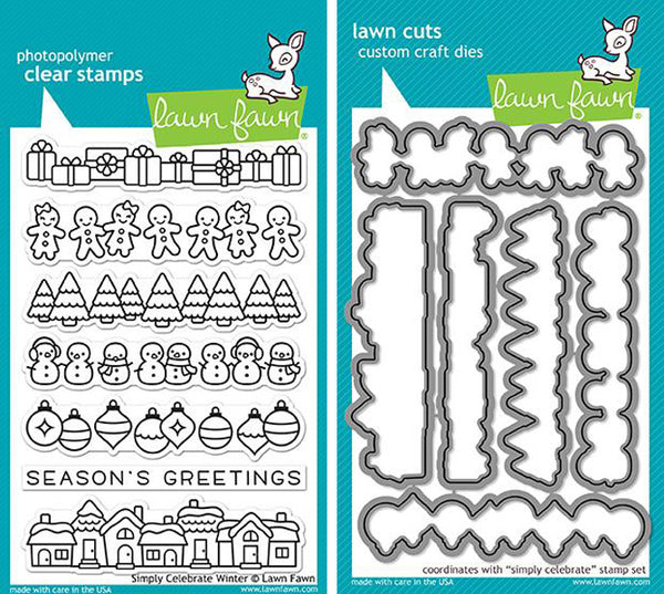 Lawn Fawn - Simply Celebrate Winter stamp & die bundle