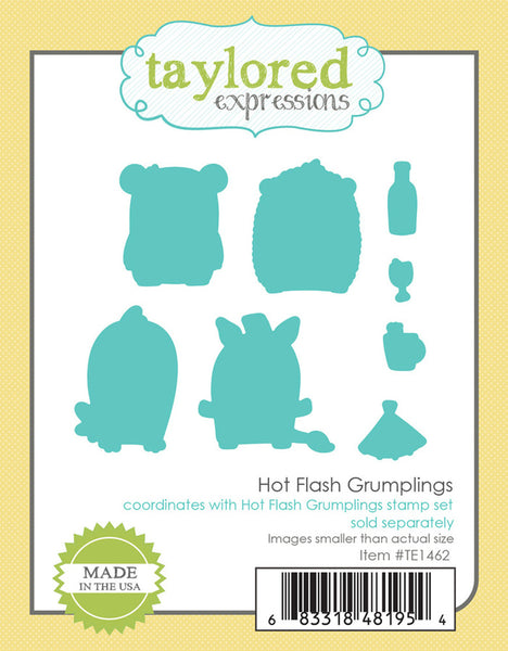 Taylored Expressions - Grumplings - Hot Flash die set