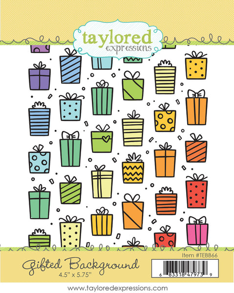 Taylored Expressions - Gifted Background - Cling Stamp