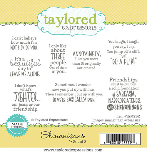 Taylored Expressions - Shenanigans Stamp Set