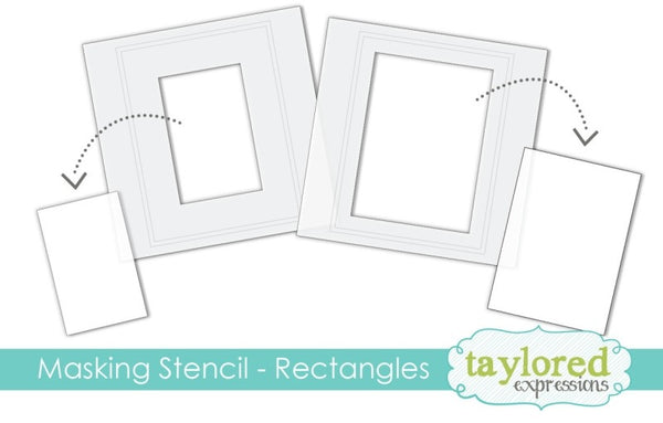 Taylored Expressions - 6x6 Masking Stencil - Rectangles