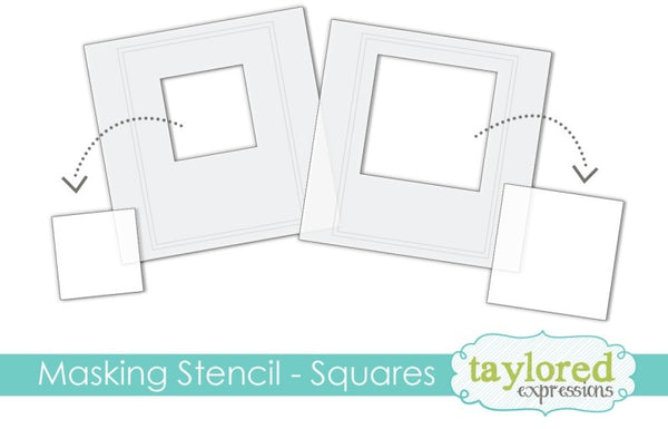 Taylored Expressions - 6x6 Masking Stencil - Squares