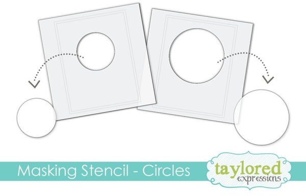 Taylored Expressions - 6x6 Masking Stencil - Circles