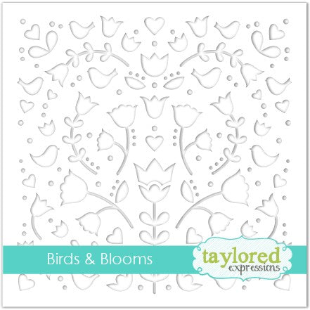 Taylored Expressions - Birds & Blooms Stencil