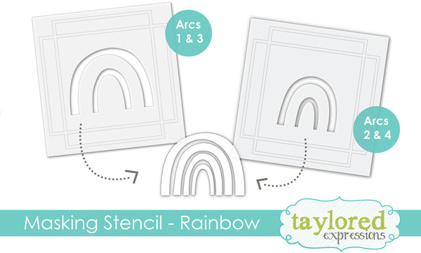 Taylored Expressions - Make a Rainbow - Designer Masking Stencil