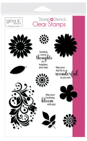 Gina K Designs - Crazy Daisy Stamp Set
