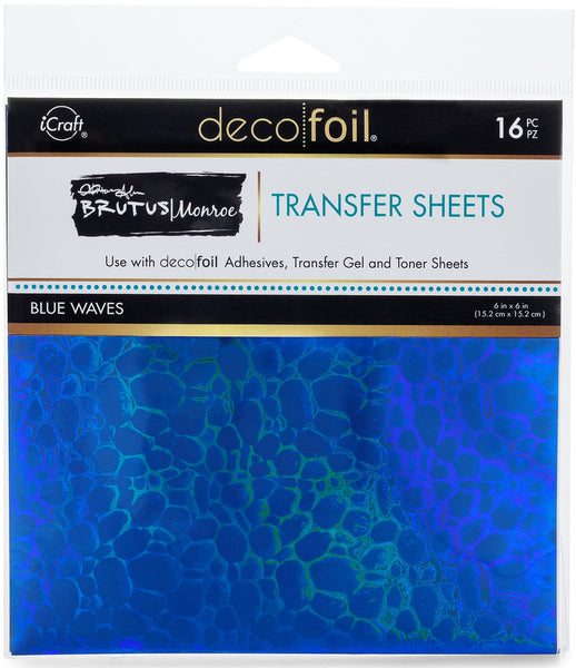 Therm O Web - Brutus Monroe - Blue Waves Foil Transfer Sheets