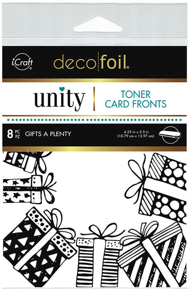 Therm O Web - Unity Stamp Co. - Toner Card Fronts - Gifts A Plenty