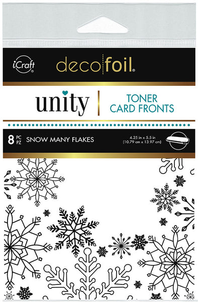 Therm O Web - Unity Stamp Co. - Toner Card Fronts - Snow Many Flakes