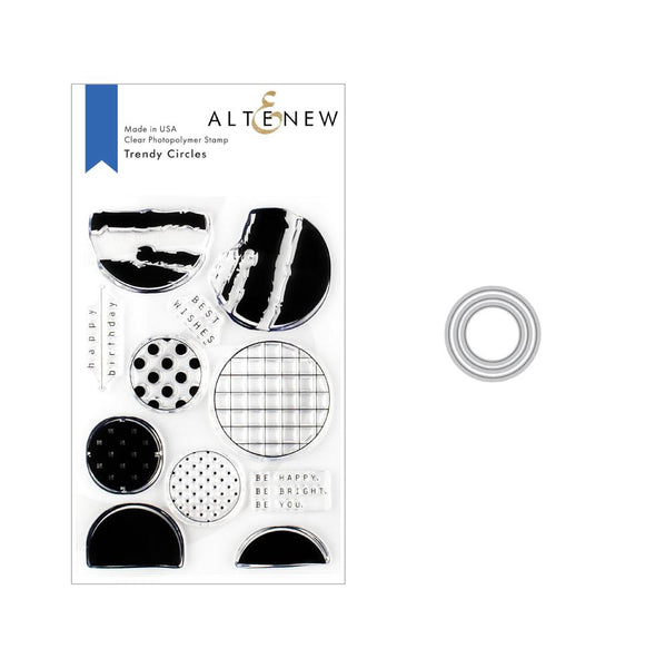 Altenew - Trendy Circles Stamp & Die Bundle