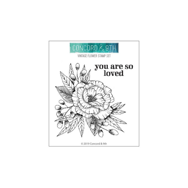Concord & 9th - Vintage Flower stamp set