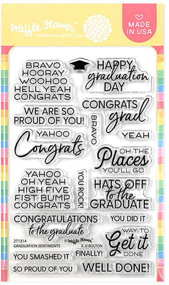 Waffle Flower - Graduation Sentiments - Clear Stamp