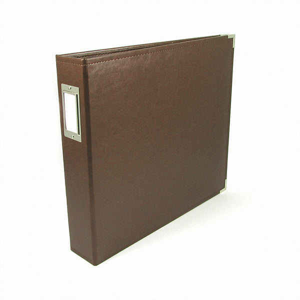 We R Memory Keepers - Classic Leather D-Ring Album - Dark Chocolate