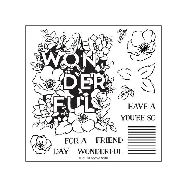 Concord & 9th - Wonderful Florals stamp set