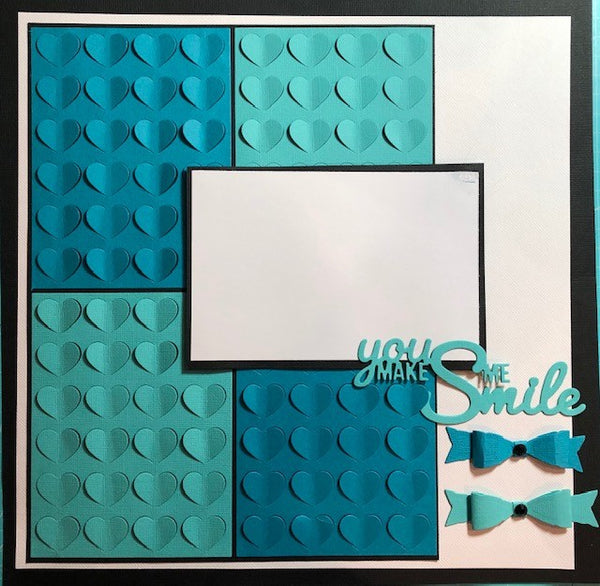 Good Vibes By Design - single page layout kit - You Make Me Smile (Blue)