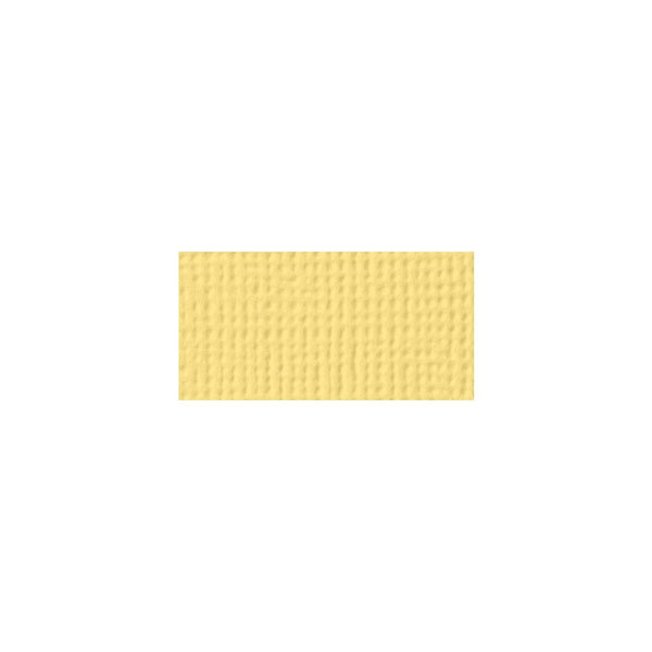 American Crafts - 12x12 Textured Cardstock - Banana