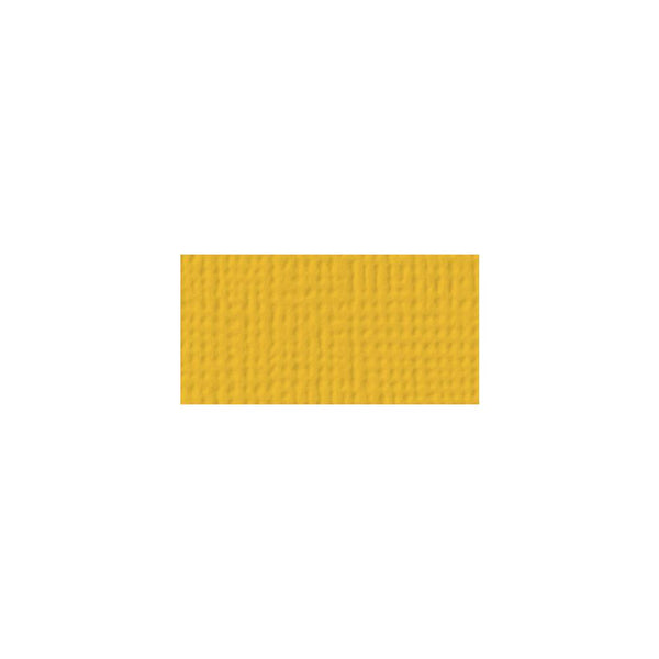 American Crafts - 12x12 Textured Cardstock - Mustard