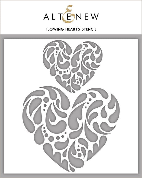 Altenew - 6x6 - Flowing Hearts stencil