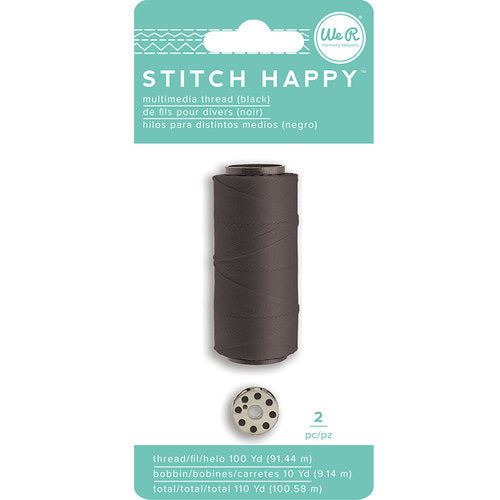 We R Memory Keepers - Stitch Happy  - Thread - Black
