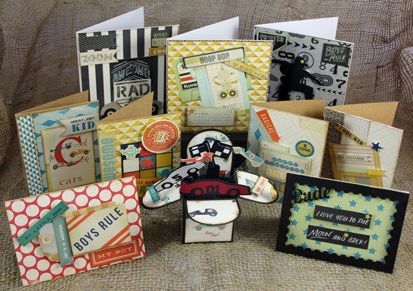 Cards for the Boys - Card kit by Janet 10/pk